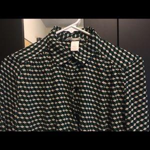 H&M Gingham Print Button Down Shirt